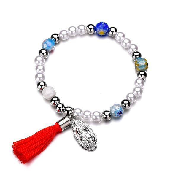 Titanium&Stainless Steel Punk Tassel bracelet  (color) NHHF0961-color