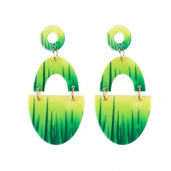 Alloy Simple  earring  (green) NHJQ10619-green