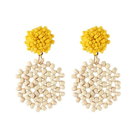 Alloy Simple  earring  (yellow) NHJQ10621-yellow's discount tags