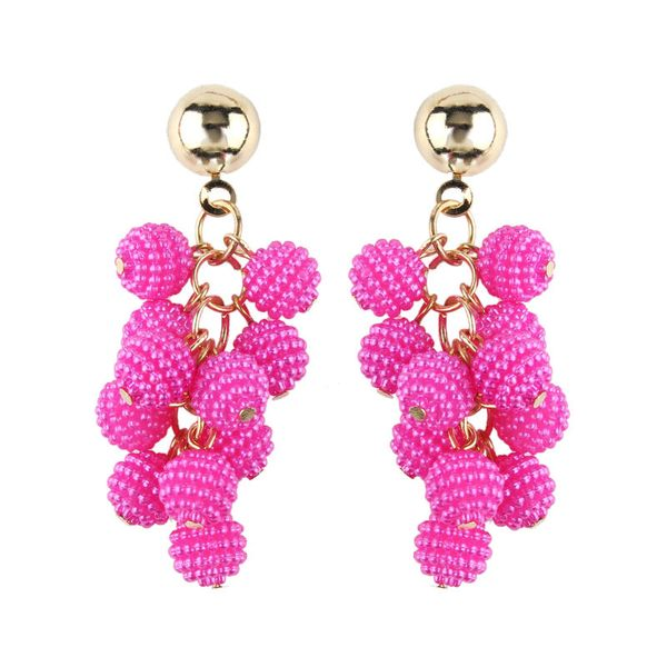 Plastic Simple Tassel earring  (red) NHJQ10624-red