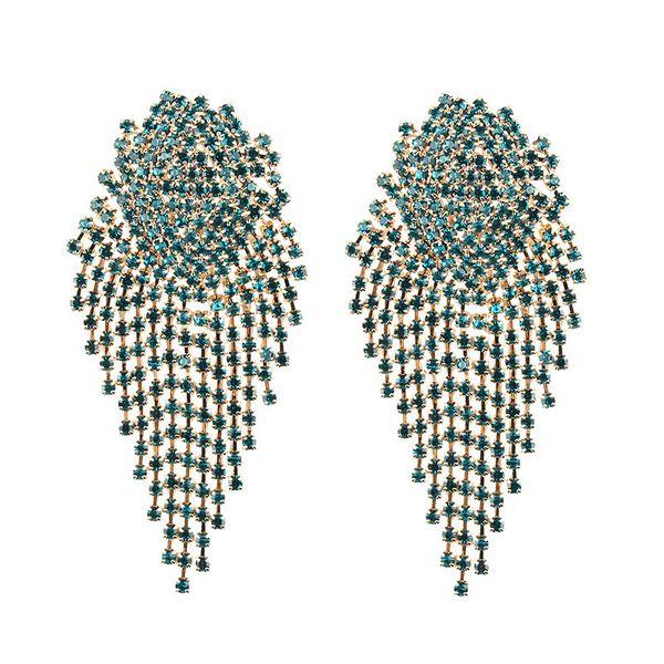 Alloy Fashion  earring  (green) NHJQ10626-green