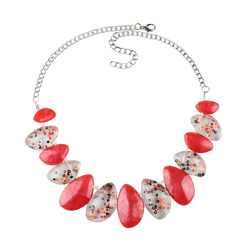 Plastic Fashion  necklace  (Color one) NHJQ10627-Color-one