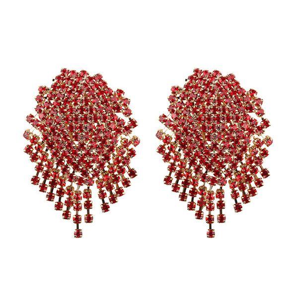 Alloy Bohemia  earring  (red) NHJQ10628-red