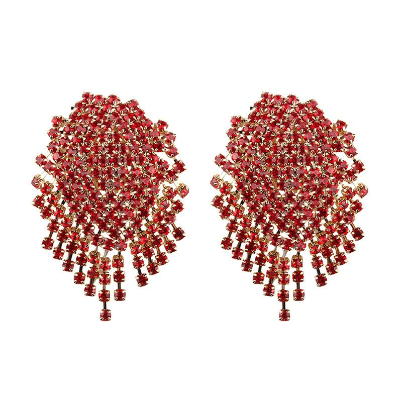 Alloy Bohemia  earring  (red) NHJQ10628-red