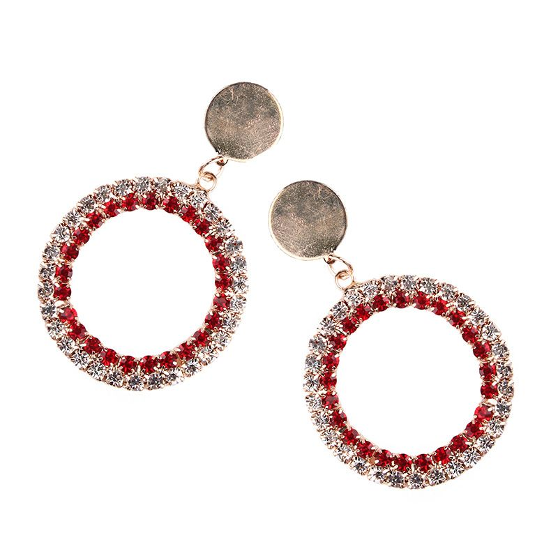 Alloy Bohemia Geometric earring  (red) NHJQ10643-red