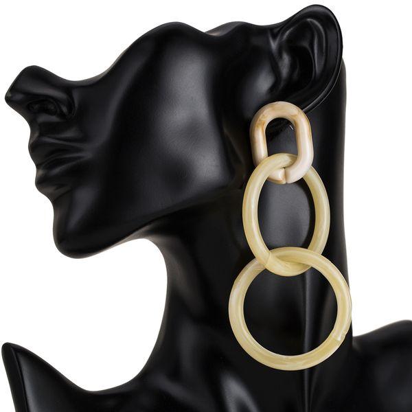 Alloy Fashion Geometric earring  (white) NHJE1831-white
