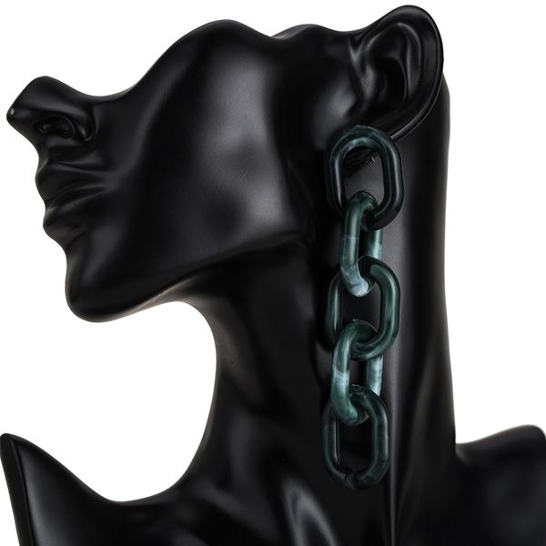 Alloy Fashion Geometric earring  (green) NHJE1836-green