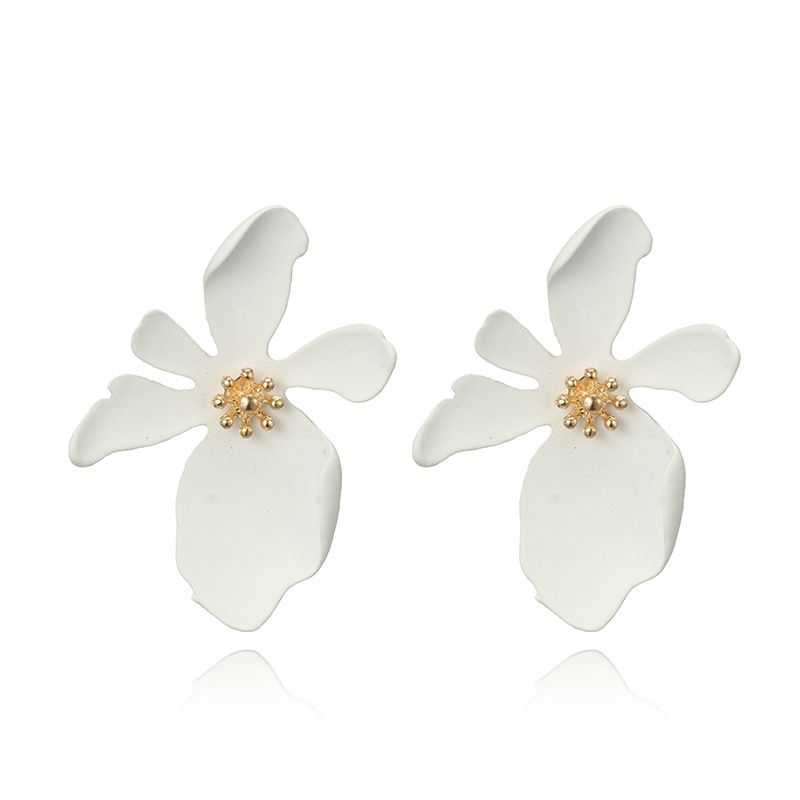 Alloy Fashion Flowers earring  (white) NHGY2384-white