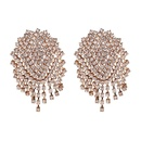 Imitated crystalCZ Fashion Tassel earring  red NHJJ5048red