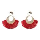 Alloy Fashion Tassel earring  red NHJJ5051red