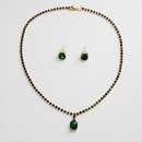Imitated crystalCZ Fashion  necklace  Greenglass NHHS0515Greenglass