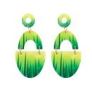 Boucle d39oreille simple en alliage vert NHJQ10619vert