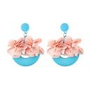 Alloy Fashion Flowers earring  yellow NHJQ10625yellow