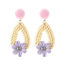 Alloy Simple Flowers earring  red NHJQ10632red