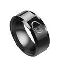 TitaniumStainless Steel Simple Geometric Ring  Black7 NHHF0968Black7