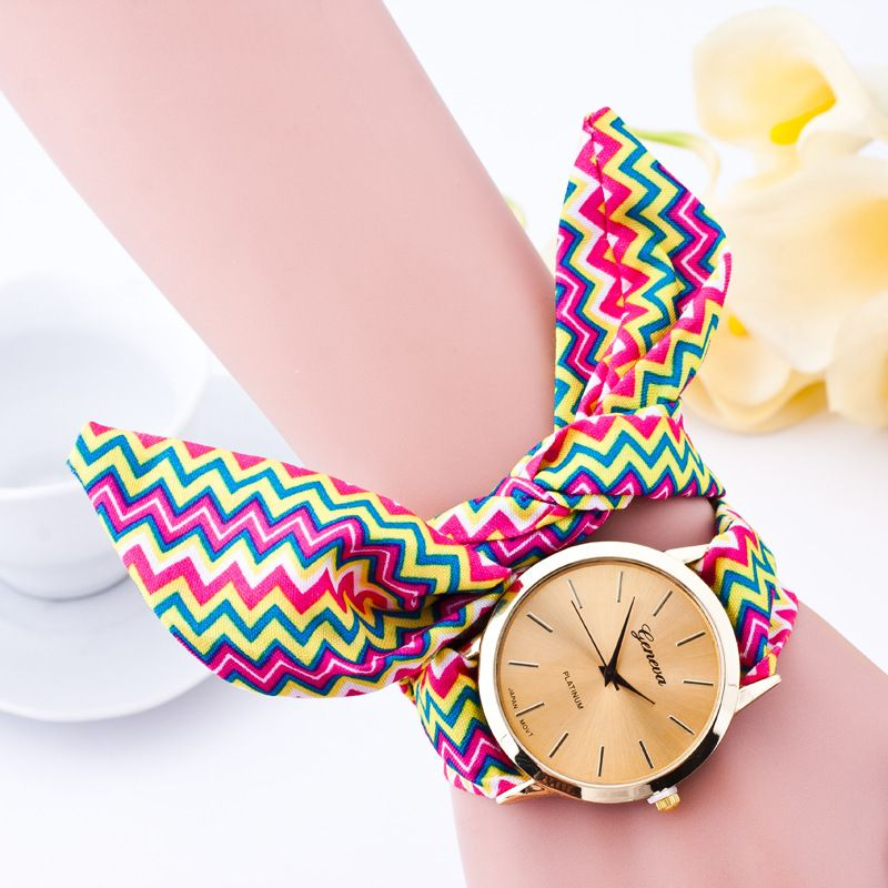Leisure Ordinary glass mirror alloy watch (3 #) NHSY0189