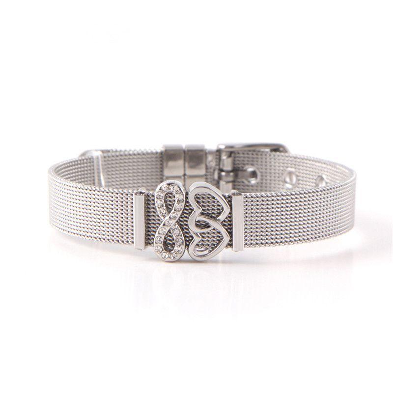 Titanium&Stainless Steel Simple Geometric bracelet  (Steel bracelet) NHSX0005-Steel-bracelet