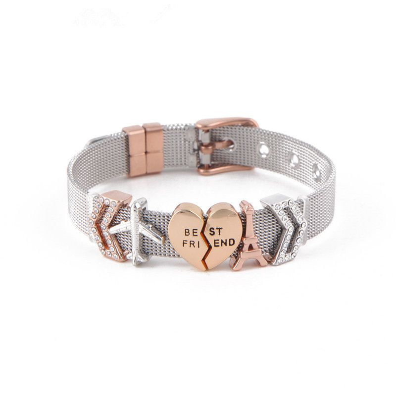 Titanium&Stainless Steel Simple Geometric bracelet  (Steel bracelet) NHSX0007-Steel-bracelet