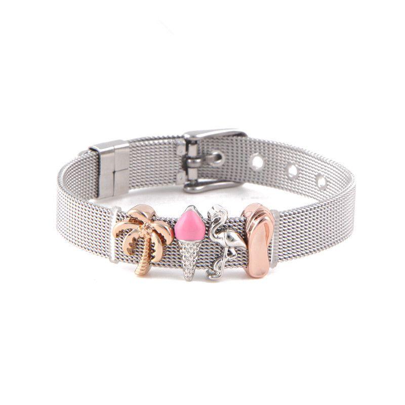 Titanium&Stainless Steel Simple Geometric bracelet  (Steel bracelet) NHSX0019-Steel-bracelet