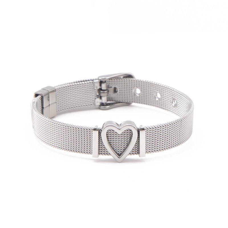 Titanium&Stainless Steel Simple Geometric bracelet  (Steel bracelet) NHSX0020-Steel-bracelet