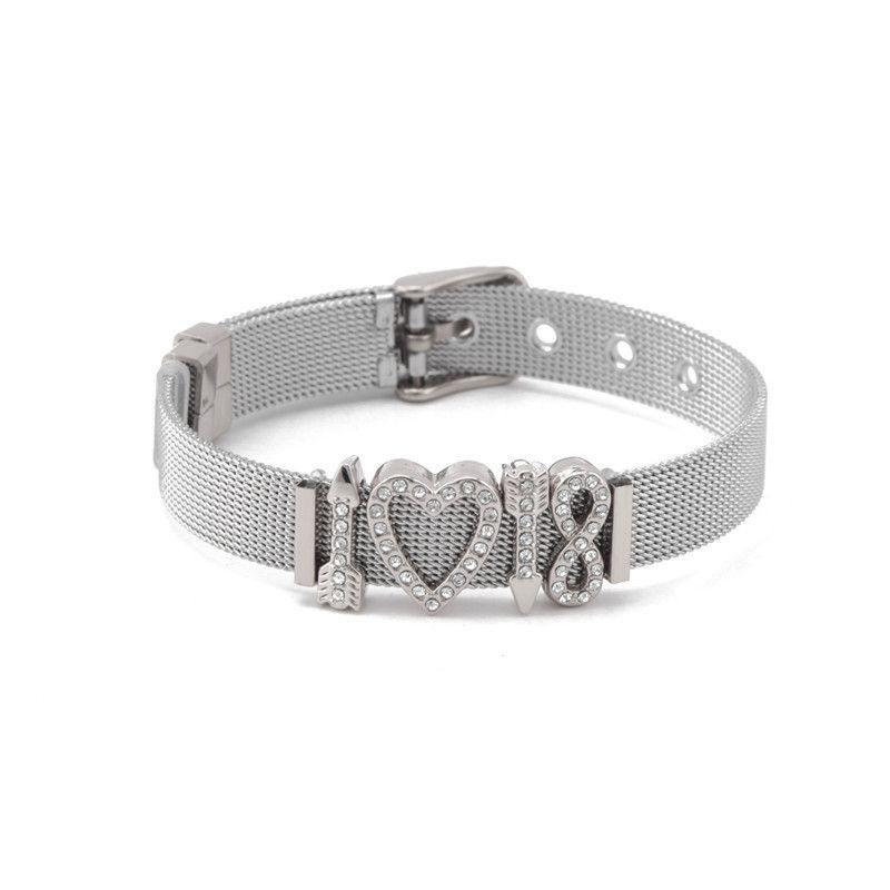 Titanium&Stainless Steel Simple Geometric bracelet  (Steel bracelet) NHSX0024-Steel-bracelet