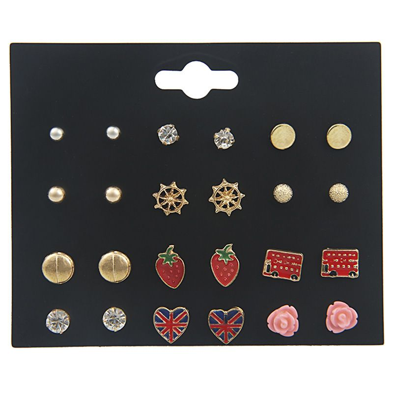 Alloy Fashion Geometric earring  (color) NHSD0272-color