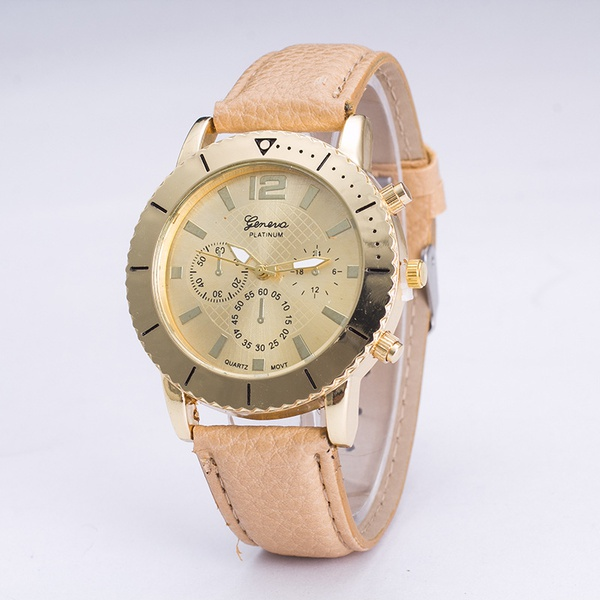 Leisure Ordinary glass mirror alloy watch (Alloy) NHSY0296