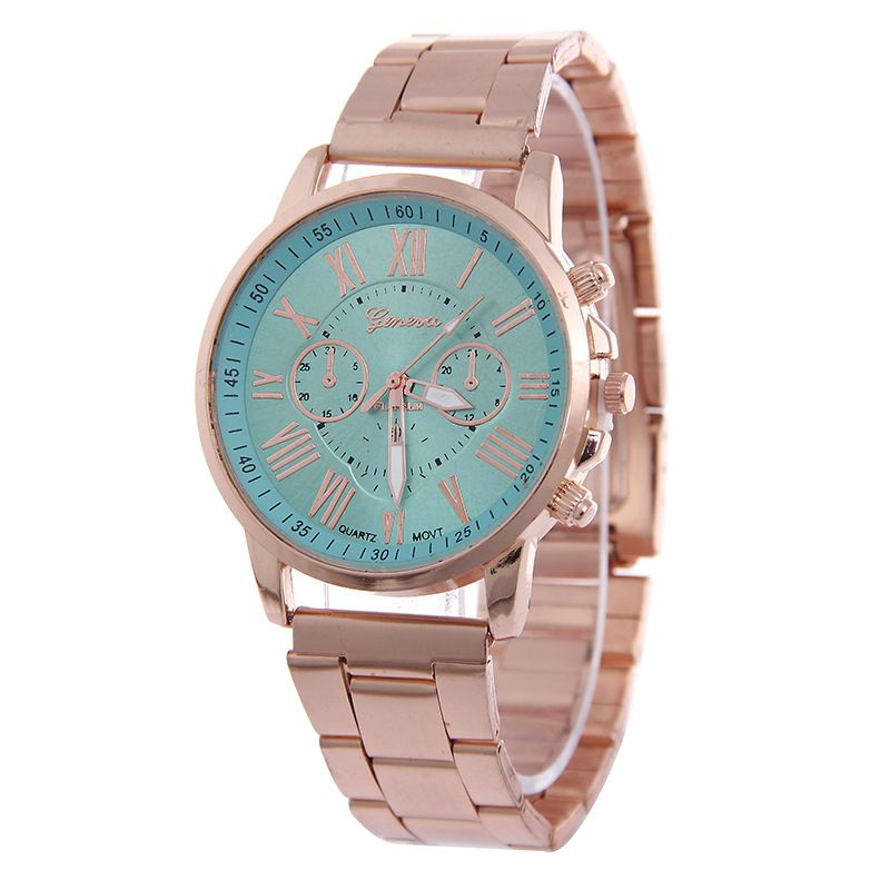 Leisure Ordinary glass mirror alloy watch (Mint Green) NHSY0477