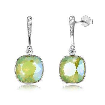 Platinum Plated  Stud Earrings NHKL13216-L125S