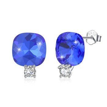 Platinum Plated  Stud Earrings NHKL13214-296