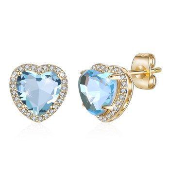 Champagne Alloy  Stud Earrings NHKL13245-I