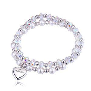 Austrian Imitated crystal Bracelet Set  Sweet Lovers NHKSE28667