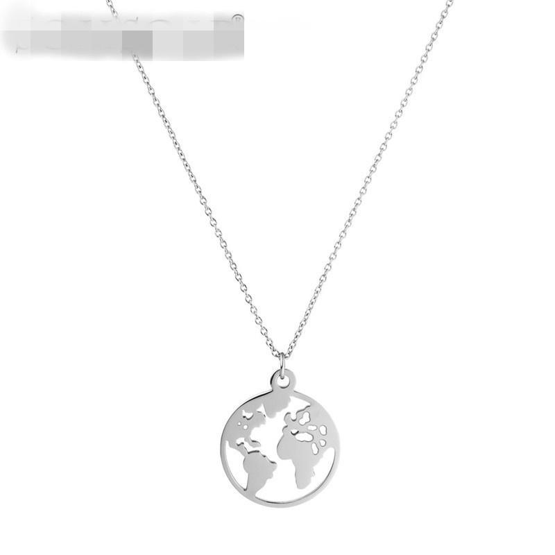 Titanium&Stainless Steel Simple Geometric necklace  (Steel color 2cm) NHSX0092-Steel-color-2cm