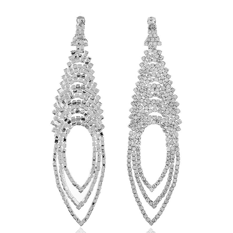 Alloy Fashion Geometric earring  (alloy white) NHKQ1781-alloy-white