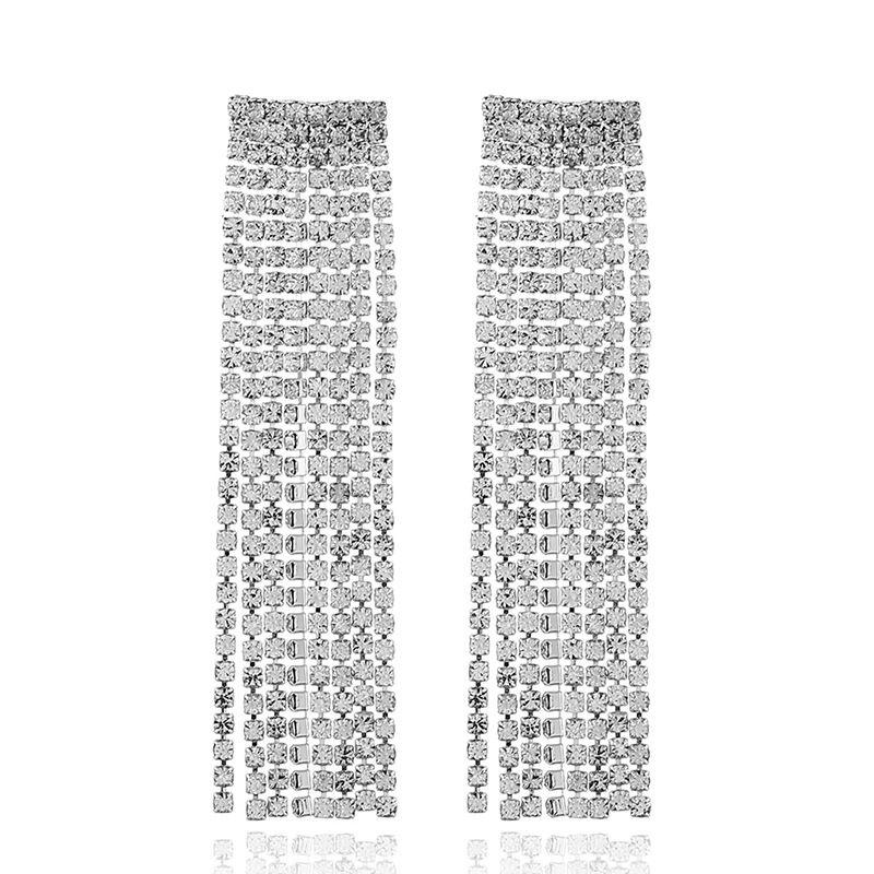 Alloy Fashion Geometric earring  (alloy white) NHKQ1786-alloy-white