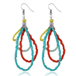 Alloy Korea Geometric earring  (White K colorful) NHKQ1798-White-K-colorful's discount tags