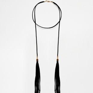Alloy Fashion Tassel necklace  (black) NHBQ1559-black's discount tags