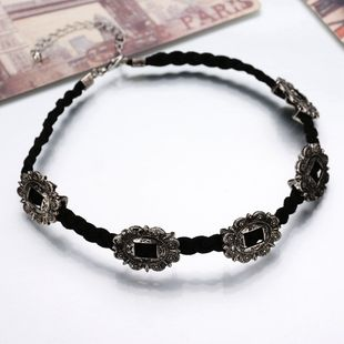 Alloy Vintage Flowers Collar  (Photo Color) NHBQ1577-Photo-Color's discount tags