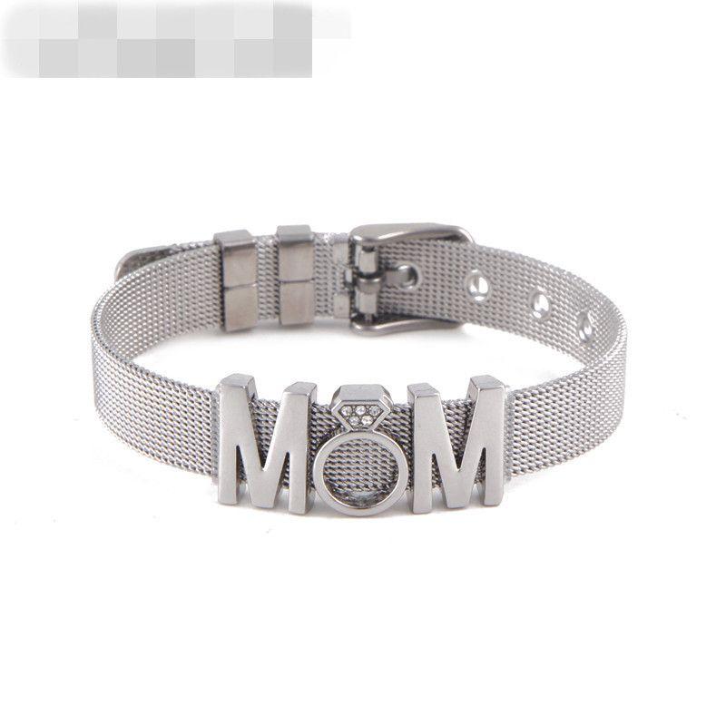 Titanium&Stainless Steel Simple Geometric bracelet  (Steel bracelet + steel accessories) NHSX0213-Steel-bracelet-steel-accessories