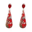 Plastic Fashion Geometric earring  red NHJJ5000red