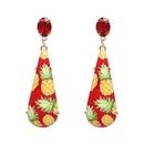 Plastic Fashion Geometric earring  red NHJJ5008red