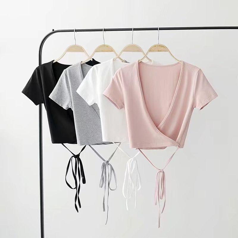 Cotton Fashion  T-shirt  (Black - one size) NHAM4788-Black-one-size