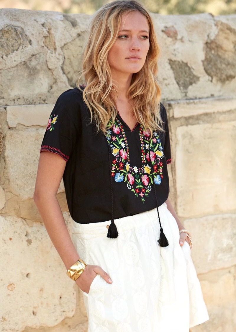 Cotton Fashion  T-shirt  (Black-s) NHAM4789-Black-s