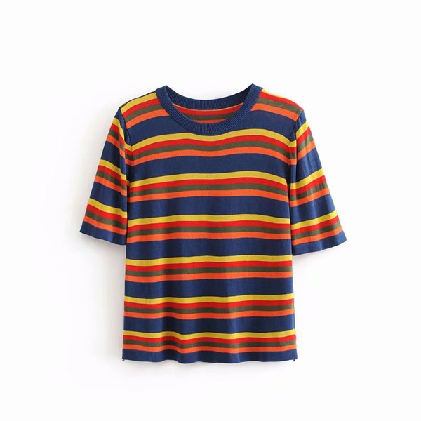 Polyester Fashion  T-shirt  (Picture color - one size) NHAM4800-Picture-color-one-size