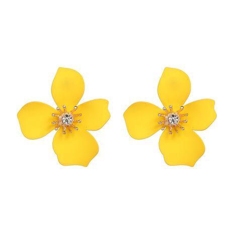 Plastic Bohemia Flowers earring  (yellow) NHJJ5085-yellow's discount tags