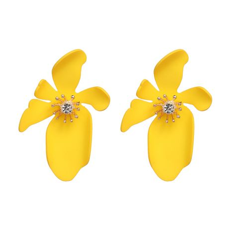Plastic Bohemia Flowers earring  (yellow) NHJJ5086-yellow's discount tags