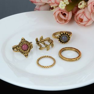 Alloy Fashion Geometric Ring  (Photo Color) NHBQ1776-Photo-Color's discount tags