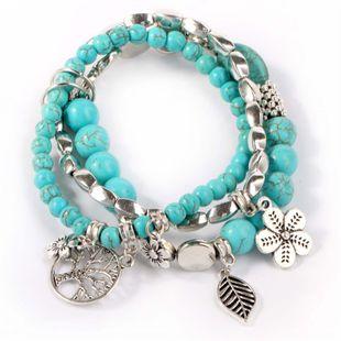 Alloy Fashion Geometric bracelet  (Ancient alloy-blue) NHKQ1889-Ancient-alloy-blue's discount tags