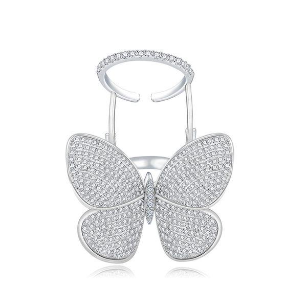 Alloy Simple Bows Ring  (Platinum Mei Wai 7) NHTM0336-Platinum-Mei-Wai-7