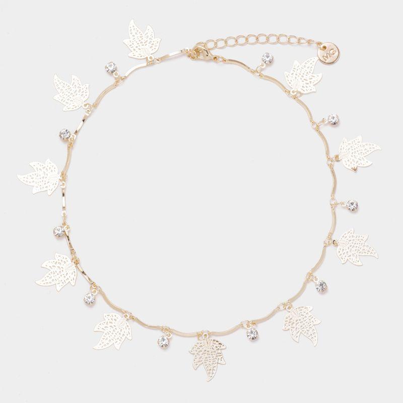 Alloy Fashion Geometric necklace  (Alloy) NHYT1056-Alloy